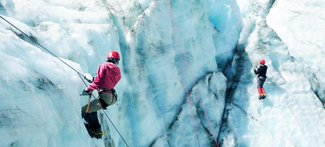 Glacier Hiking Ice Climbing